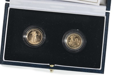 Lot 47 - 1997 GOLD PROOF BRITANNIA £10 COIN AND A LIBERTY $5 LADIES OF FREEDOM TWO COIN SET