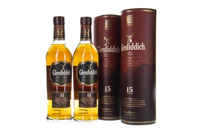 Lot 319-TWO BOTTLES OF GLENFIDDICH 15 YEARS OLD