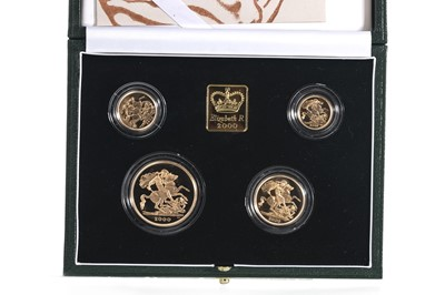 Lot 37 - 2000 GOLD PROOF UK SOVEREIGN FOUR COIN SET