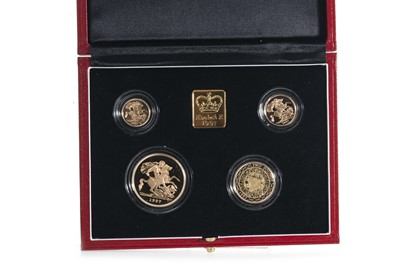 Lot 25-A 1997 GOLD PROOF UK SOVEREIGN COLLECTION FOUR COIN SET