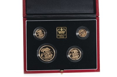 Lot 27-1998 GOLD PROOF UK SOVEREIGN FOUR COIN SET