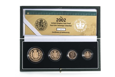 Lot 43 - 2002 GOLD PROOF UK SOVEREIGN COLLECTION FOUR COIN SET