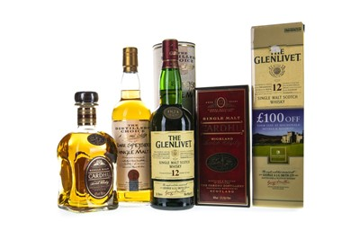 Lot 322-GLENLIVET 12 YEARS OLD, CARDHU AGED 12 YEARS AND THE DISTILLER'S CHOICE