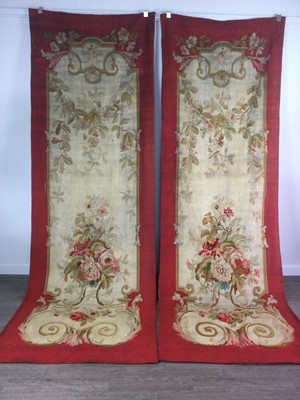 Lot 1387 - A PAIR OF 19TH CENTURY AUBUSSON WALL HANGINGS