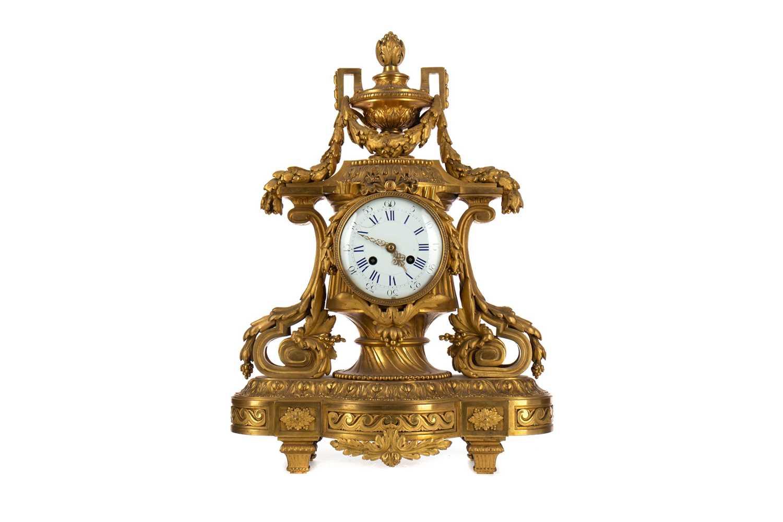 Lot 1356 - AN ATTRACTIVE 19TH CENTURY ORMOLU MANTEL CLOCK BY VINCENTI ET CIE