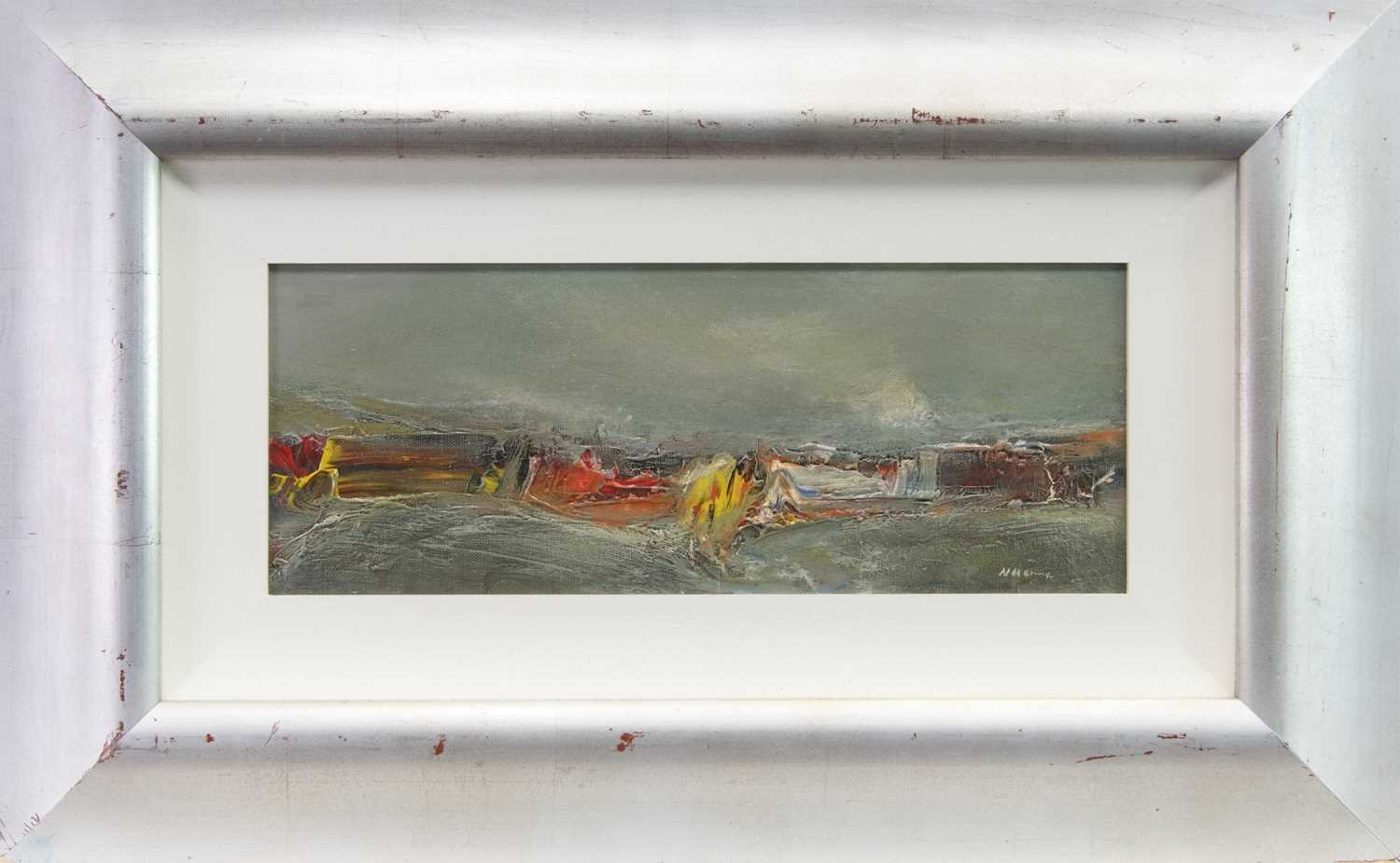 Lot 514-NORTH SEA BREAKERS, A MIXED MEDIA BY NAEL HANNA