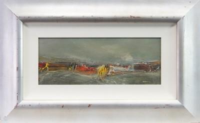 Lot 514-NORTH SEA BREAKERS, A MIXED MEDIA BY NAEL HANNA
