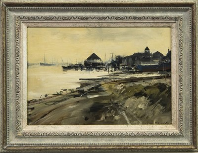 Lot 537-DARBY'S HARD, GORLESTON, AN OIL BY IAN HOUSTON
