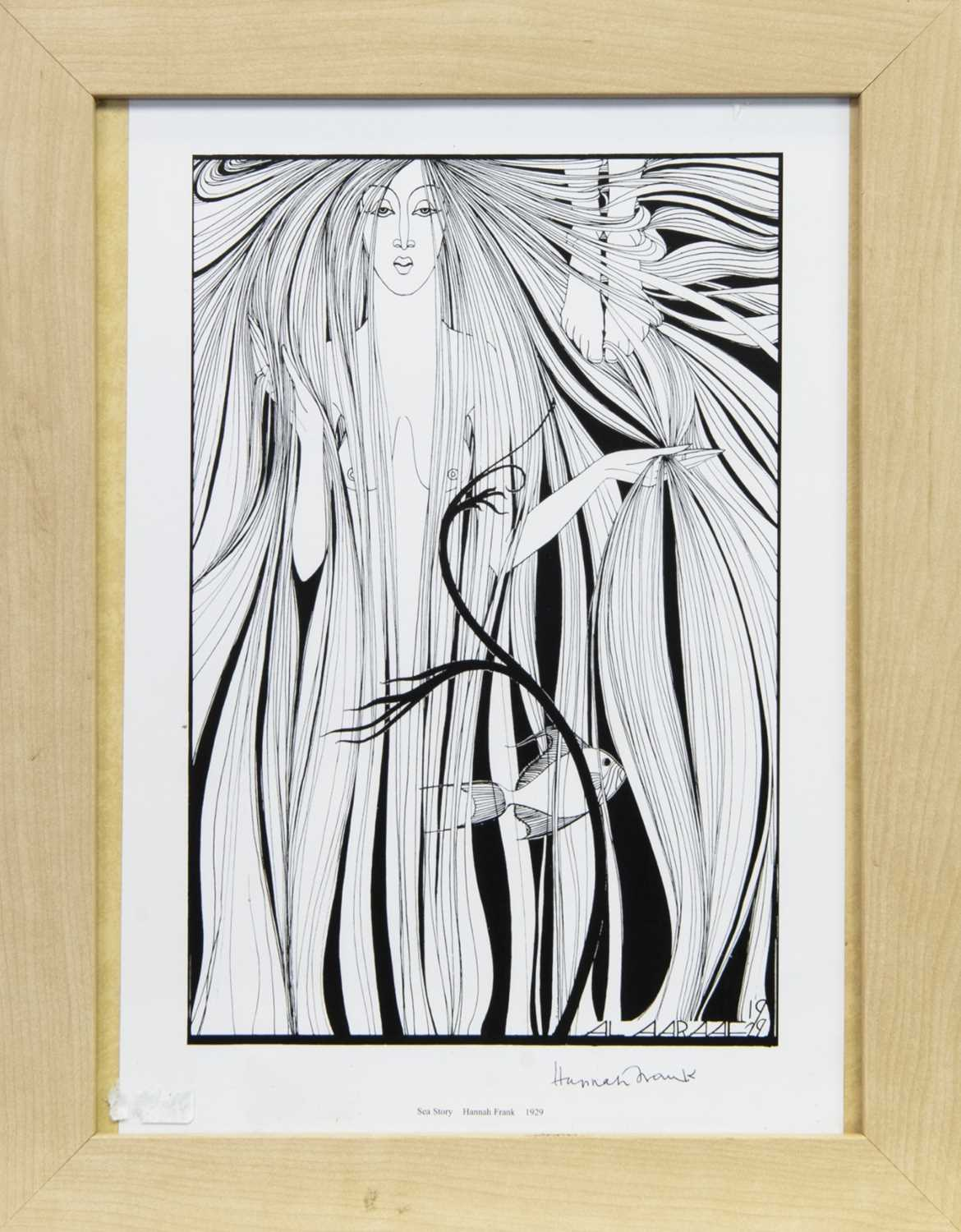 Lot 539 - SEA STORY, A LITHOGRAPH BY HANNAH FRANK