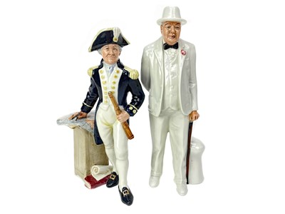 Lot 1003-A ROYAL DOULTON FIGURE OF 'SIR WINSTON CHURCHILL' AND ANOTHER OF 'THE CAPTAIN'