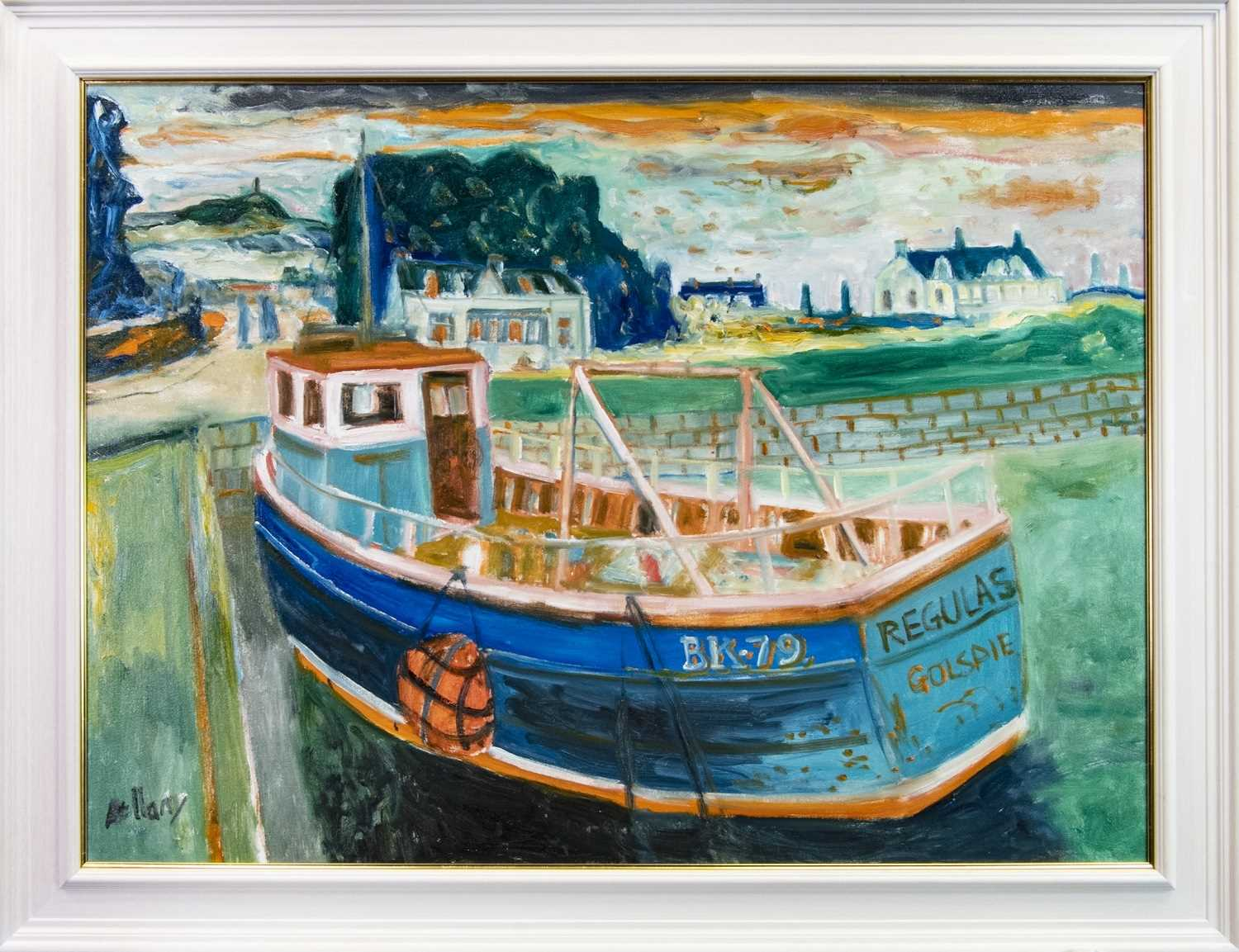 Lot 506 - REGULAS, GOLSPIE, AN OIL BY JOHN BELLANY