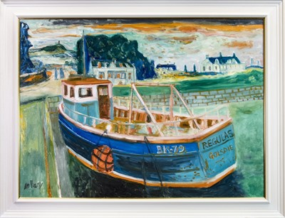 Lot 506-REGULAS, GOLSPIE, AN OIL BY JOHN BELLANY