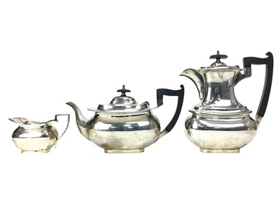 Lot 408-AN EARLY 20TH CENTURY SILVER PART TEA SERVICE