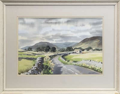 Lot 408-LOOKING TOWARDS APPERSETT, A WATERCOLOUR BY E CHARLES SIMPSON
