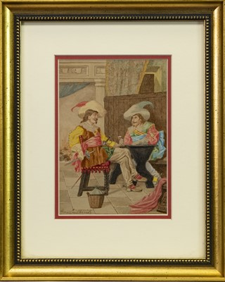 Lot 421-A PAIR OF WATERCOLOURS BY GEORGE CRUIKSHANK