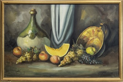 Lot 424-A RUSSIAN STILL LIFE WITH FRUIT, IN OIL