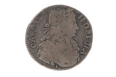 Lot 80 - SCOTLAND - CHARLES II (1649 - 1685) QUARTER DOLLAR OR MERK DATED 1677