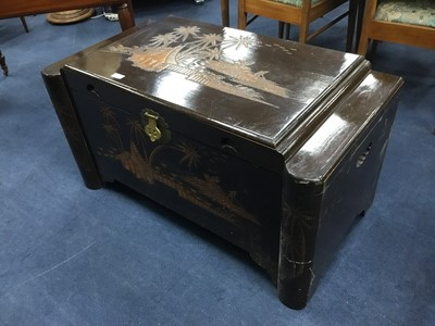 Lot 247 - A CHINESE CARVED WOOD BLANKET CHEST