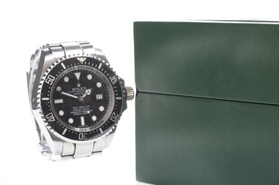 Lot 861-A GENTLEMAN'S ROLEX DEEP SEA SEA-DWELLER STAINLESS STEEL AUTOMATIC WRIST WATCH