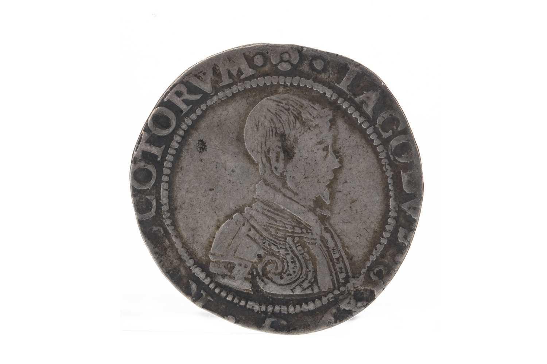 Lot 125 - SCOTLAND - JAMES VI (1567 - 1625) FIVE SHILLINGS DATED 1594