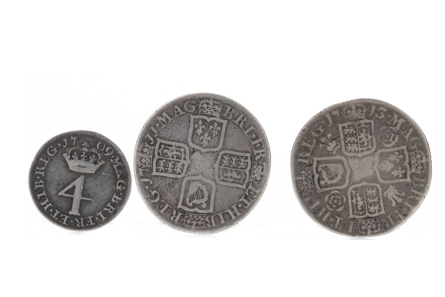 Lot 133 - ENGLAND - QUEEN ANNE (1702 - 1714) SHILLING DATED 1713