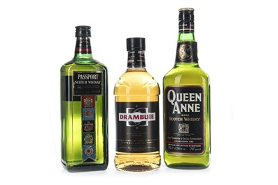 Lot 422-QUEEN ANNE RARE, PASSPORT AND DRAMBUIE