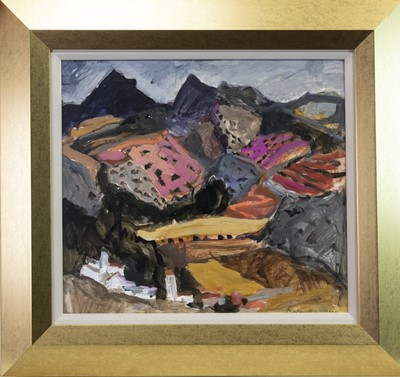 Lot 549-FROM HIGH PART OF BENAOJAN, AN OIL BY SHEILA MACMILLAN