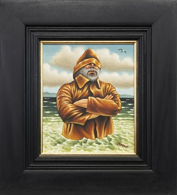 Lot 502-MAYBE I SHOULD HAVE GONE TO SEA, AN OIL BY GRAHAM MCKEAN