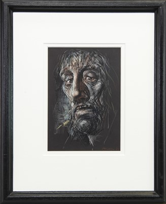 Lot 521-CHRIST, A MIXED MEDIA BY PETER HOWSON