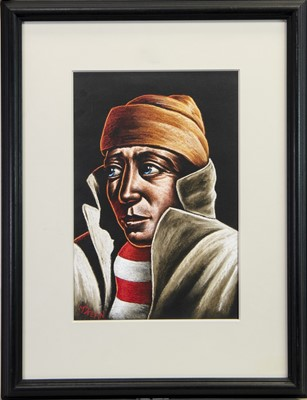 Lot 655-THE SUPPORTER, A PASTEL BY GRAHAM MCKEAN