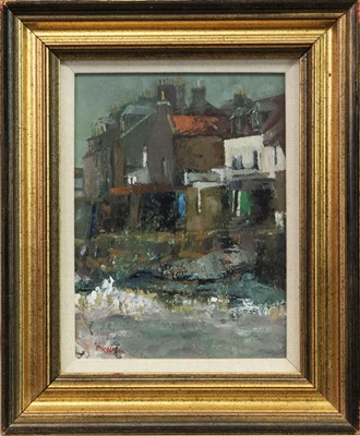 Lot 524-SEABRAES, CELLARDYKE, AN OIL BY WILLIAM BIRNIE
