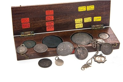 Lot 160 - A GROUP OF BRITISH SILVER COINS