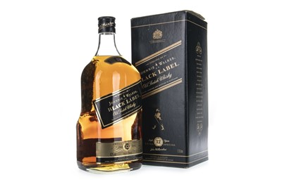 Lot 425-JOHNNIE WALKER BLACK LABEL AGED 12 YEARS - 1.75 LITRES