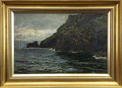 Lot 432-A BRITISH ROCKY COASTAL SCENE