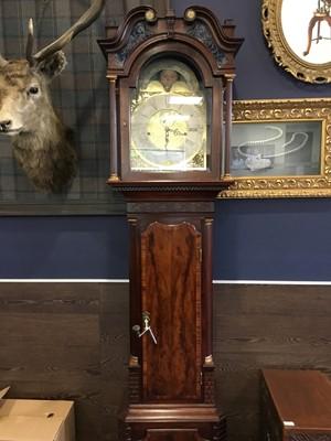 Lot 1107-A LATE VICTORIAN MAHOGANY LONGCASE CLOCK