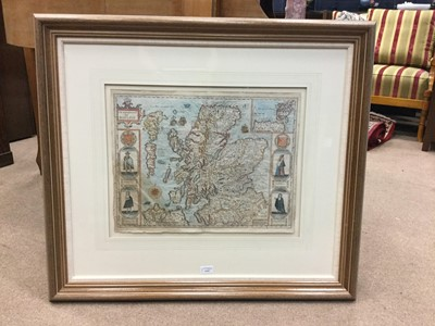 Lot 1315-A MAP OF THE KINGDOME OF SCOTLAND BY JOHN SPEED