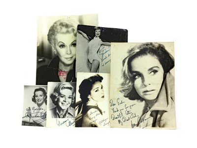 Lot 1318-A COLLECTION OF AUTOGRAPHED PHOTOGRAPHS OF HOLLYWOOD STARS