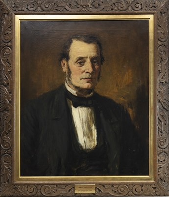 Lot 9-THE PORTRAIT OF JAMES TEMPLETON, AN OIL BY WILLIAM MCTAGGART