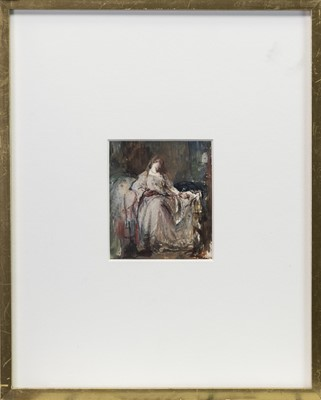 Lot 45-STUDY OF JULIA EMILY GORDON, AN OIL ATTRIBUTED TO SIR DAVID WILKIE