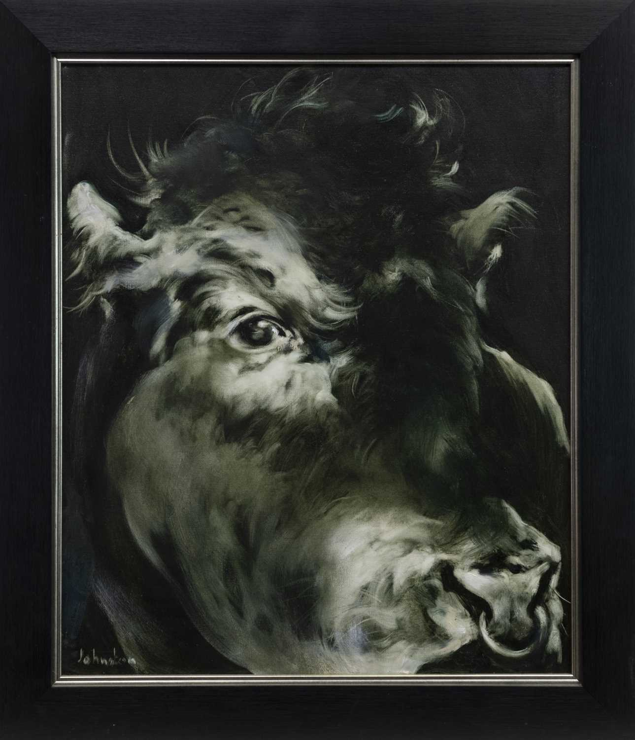 Lot 506-BULL, AN OIL BY ELAINE JOHNSTON