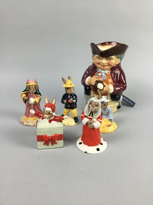 Lot 17-A LOT OF NINE ROYAL DOULTON BUNNYKINS FIGURES ALONG WITH OTHER DOULTON