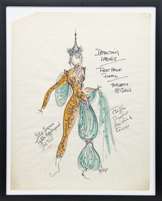 Lot 69-COSTUME DESIGNS FOR THEATRE, A MIXED MEDIA BY ROBERT ST JOHN ROPER