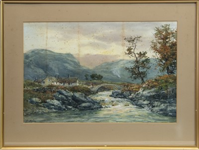 Lot 73-HIGHLAND SCENE WITH FIGURE, A WATERCOLOUR BY JOHN HAMILTON GLASS
