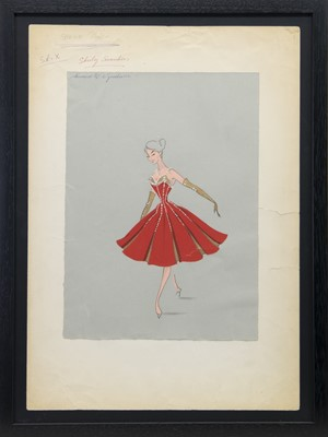 Lot 83-COSTUME DESIGNS FOR THEATRE, A MIXED MEDIA BY RICHARD BERKELY SUTCLIFFE