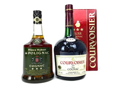 Lot 1021-COURVOISIER THREE STAR - ONE LITRE AND PRINCE HUBERT DE POLIGNAC THREE STAR