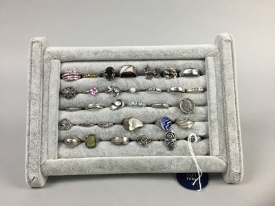 Lot 5-A COLLECTION OF THIRTY TWO VINTAGE SILVER RINGS