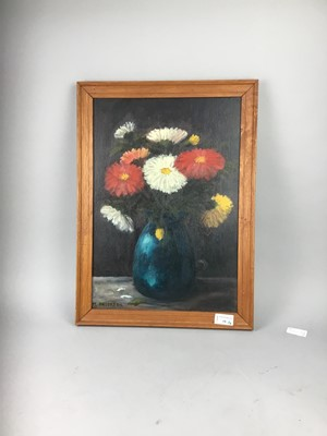 Lot 18-A LOT OF TWO FLORAL STILL LIFE PAINTINGS