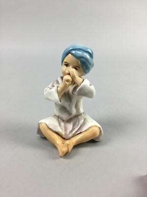 Lot 24-A ROYAL WORCESTER FIGURE OF 'INDIA'