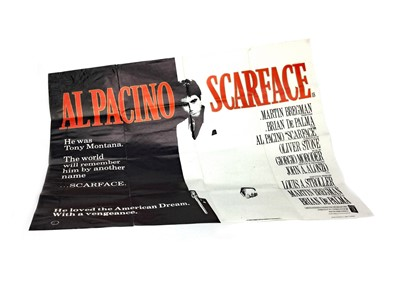 Lot 1304-A SCARFACE QUAD FILM POSTER
