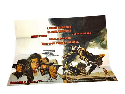 Lot 1305-A ONCE UPON A TIME IN THE WEST QUAD FILM POSTER